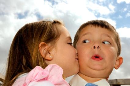 Girl Kissing Boy