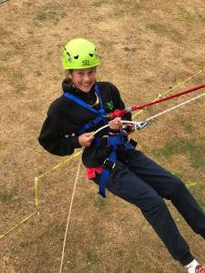 CJ abseiling (Jan 2017)