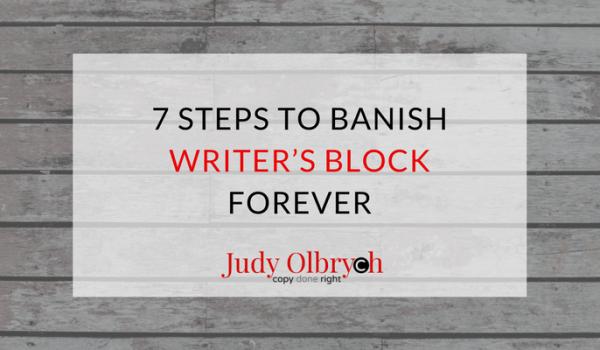 7 Steps to Banish Writer's Block Forever