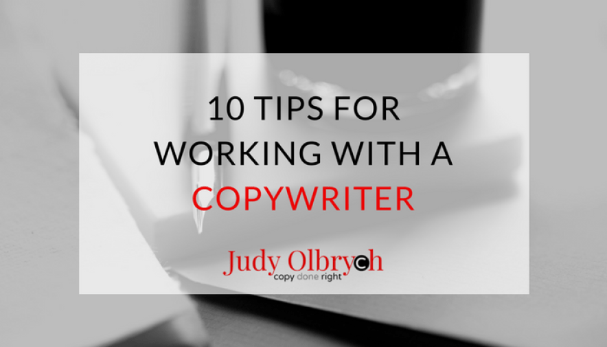 Working with a Copywriter