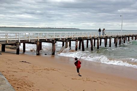 Child enjoying the water.