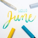 May Lettering Round Up