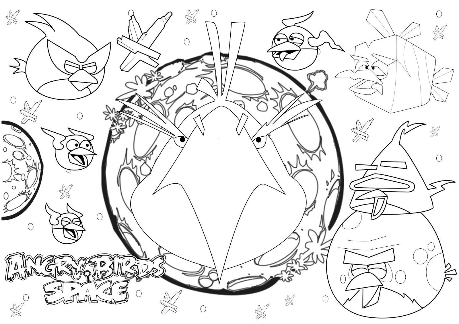 Dibujo Para Colorear De Angry Birds Space Eagle Bird