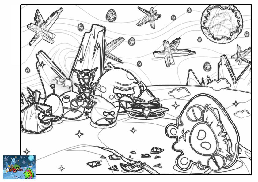 Imagenes Para Colorear De Angry Birds Space idea gallery
