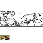 Perla, Blu y los Angry Birds escuchan a Rafael