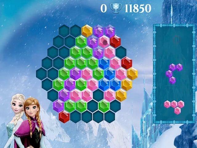 Frozen Elsa Hexagon Puzzle