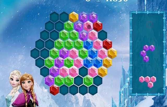 Frozen Elsa Hexagon Puzzle - Juegos de Bolas