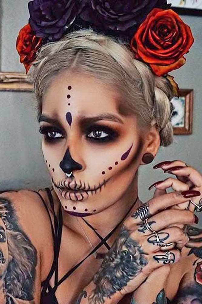 Simple Sugar Skull Makeup 22 Juelzjohn