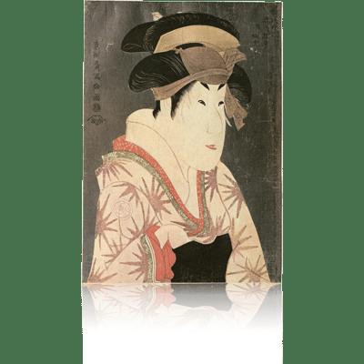 三代瀬川菊之丞の田辺文蔵妻おしづ 写楽