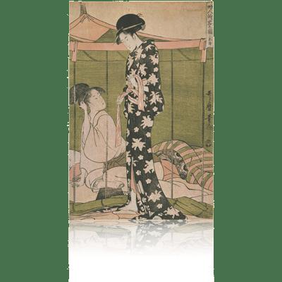 山姥と金太郎・栗 歌麿