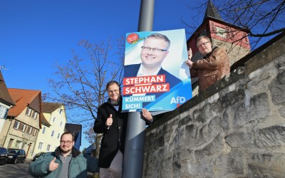Stephan Schwarz ist wieder im Wahlkampf zurück!