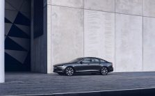 The refreshed Volvo S90 Recharge T8 plug-in hybrid in Platinum Grey