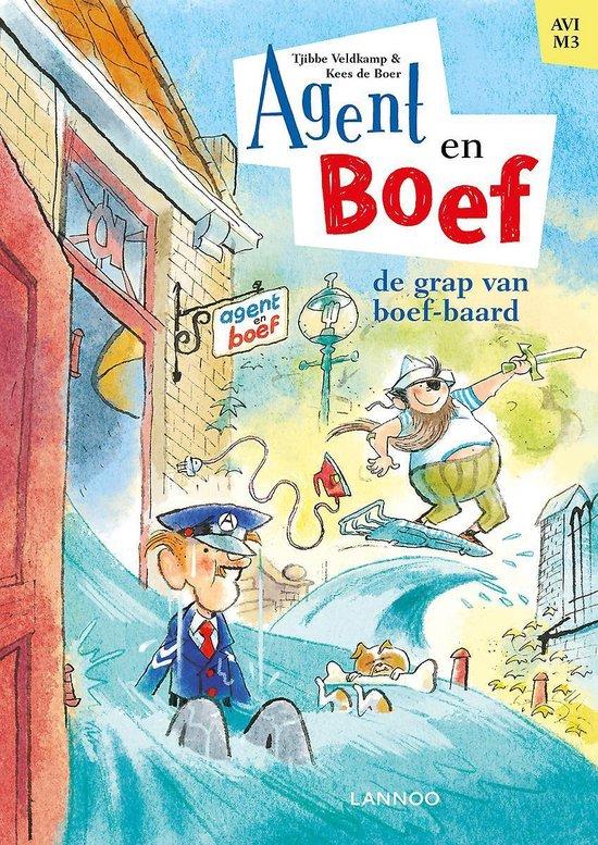 Thematitels Kinderboekenweek 2021 Agent & Boef - De grap van boef-baard
