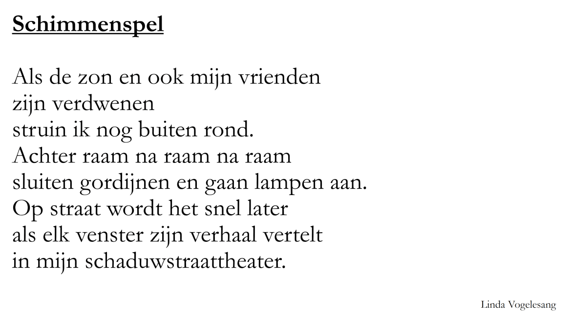 Poëzie Juffrouw Femke