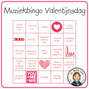 Muziekbingo Valentijnsdag