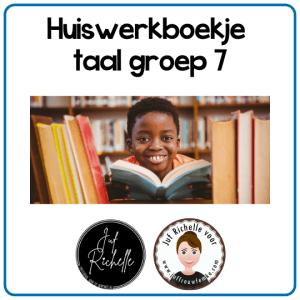 huiswerkboekje taal groep 7