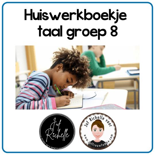 huiswerkboekje taal groep 8