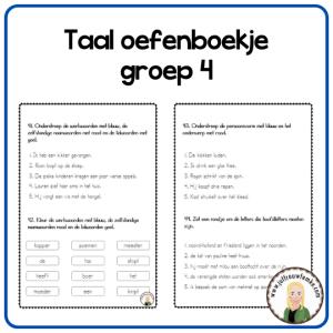 taal oefenboekje groep 4