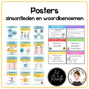 Posters zinsontleden en woordbenoemen
