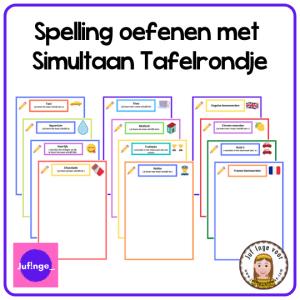 Spelling oefenen met de werkvorm Simultaan Tafelrondje