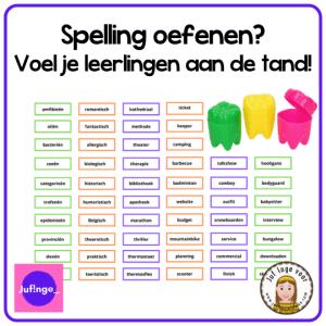 Spelling oefenen? Voel je leerlingen aan de tand