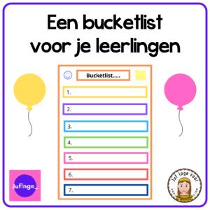 bucketlist voor je leerlingen