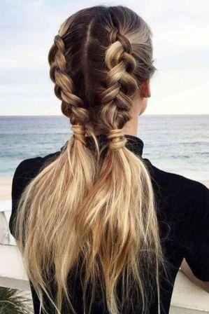 लंबे बालों के लिए केश विन्यास