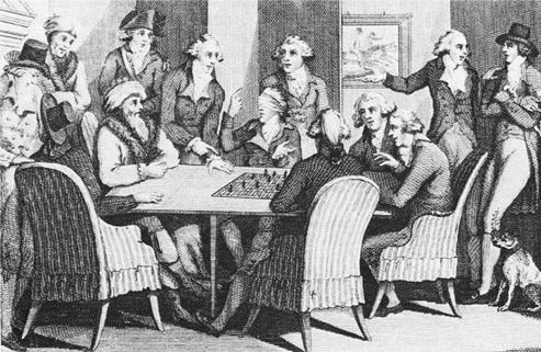 Francois André Philidor jugando a ciegas