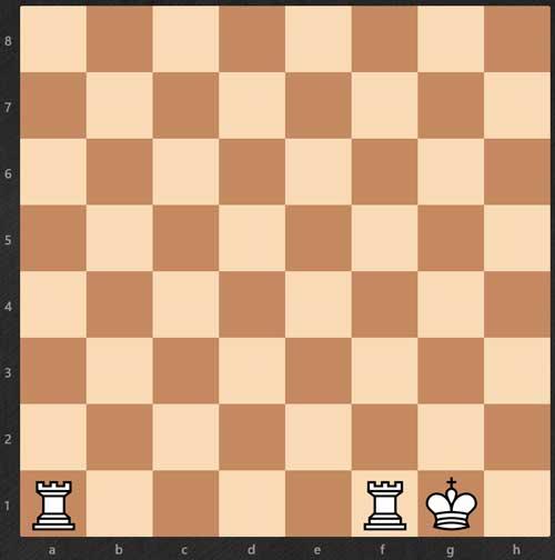 Cómo aprender a jugar al ajedrez - enroque-corto-reglas de ajedrez