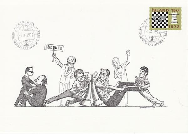 Spassky-Fischer 1972 una epopeya en los dibujos animados-Halldór Pétursson-14