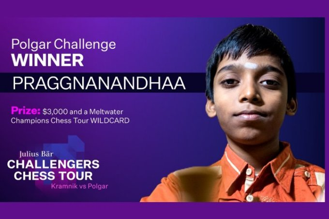Praggnanandhaa Julius Bär Challengers Chess Tour 2021 12-04-2021