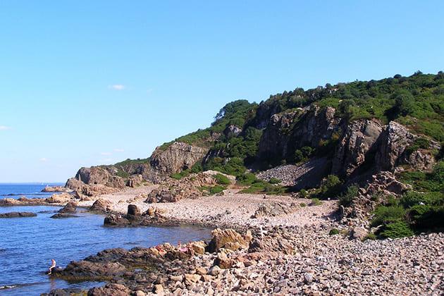 Ubicación del Séptimo Sello el Caballero se encuentra con la Muerte en la playa Hovs Hallar, Suecia