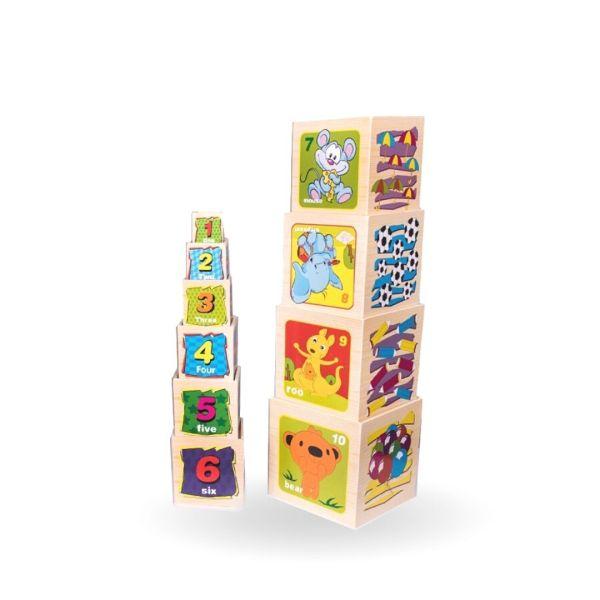 Didáctico Cubos Apilables x10