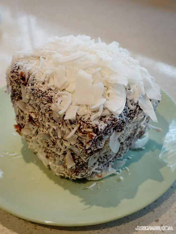Panacotta Lamington Flour and Stone
