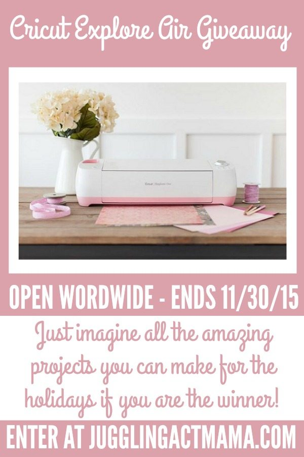 Cricut Explore Air Giveaway - Just Imagine!