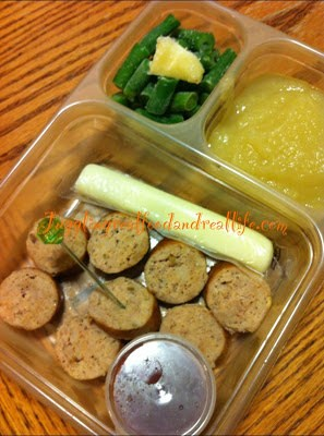 Chicken Sausage Medallions For Lunch without Bread