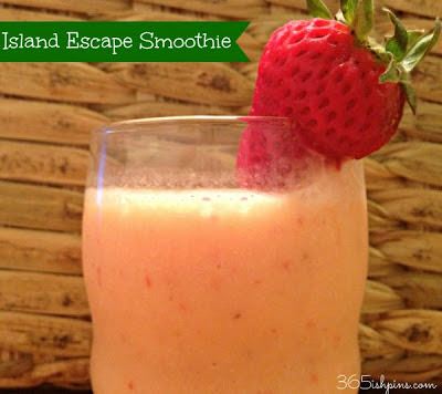 Juggling Real Food and Real Life Presents: 365 Days ish of Pinterest Pineapple Strawberry Island Smoothie