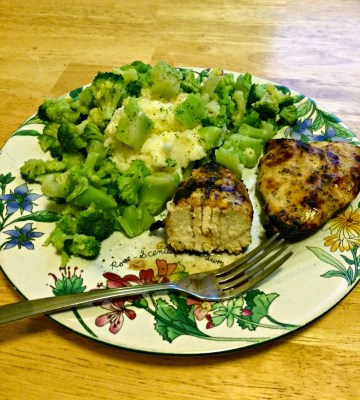 Real Food for College Kids: Grilled chicken and sides