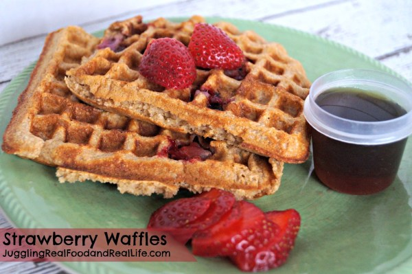 Strawberry Whole Wheat Waffle Recipe