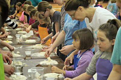 Girl Scouts participating in Food Revolution Day