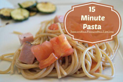 15 Minute Pasta Recipe