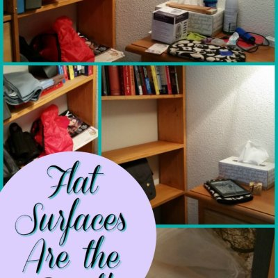 Declutter Challenge:  Flat Surfaces!