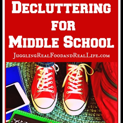 Kid's Clutter:  Declutter For Middle School