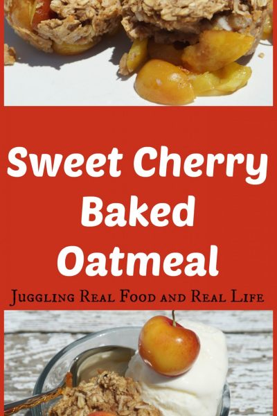 Sweet Cherry Baked Oatmeal