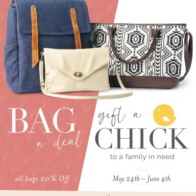 Bag a Deal & Give A Chick: Trades of Hope Promotion