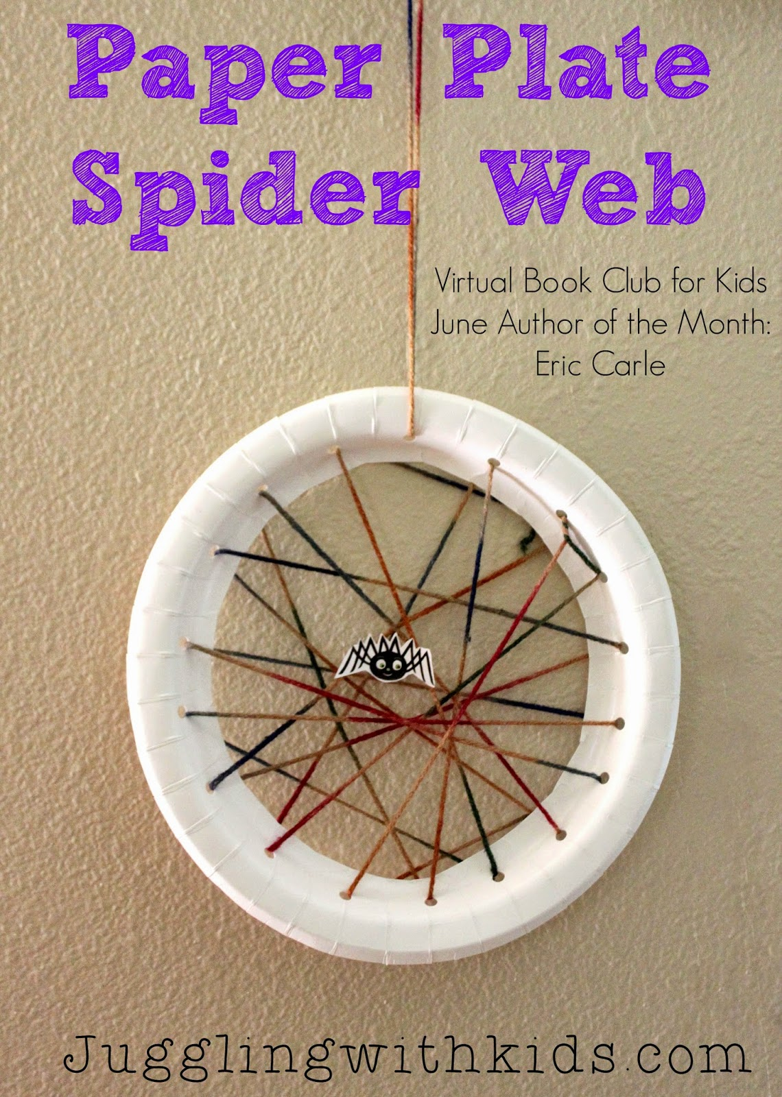 Paper Plate Spider Web Virtual Book Club For Kids Eric