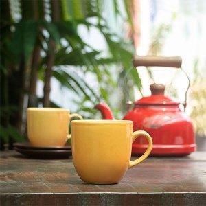 Handmade-Ceramic-Cups-Yellow-Tulip-Cups-from-Jugmug-Thela