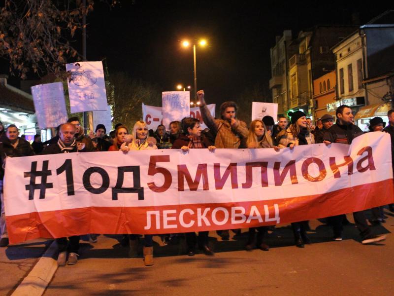 U Leskovcu večeras novi protesti, govore profesor dr Predrag Jašović i Srđan Milivojević