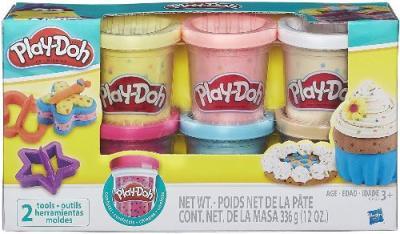 Set de 6 play doh con confeti