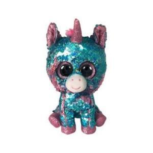 TY Peluche Unicornio Celeste Reversible